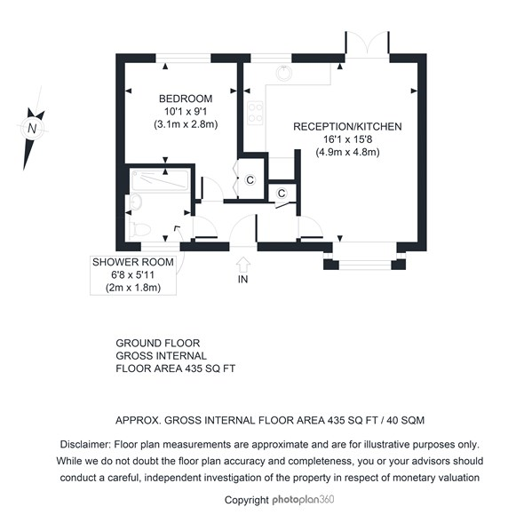 Floorplan at 7 Sunnymead Court, 46 Oxford Road