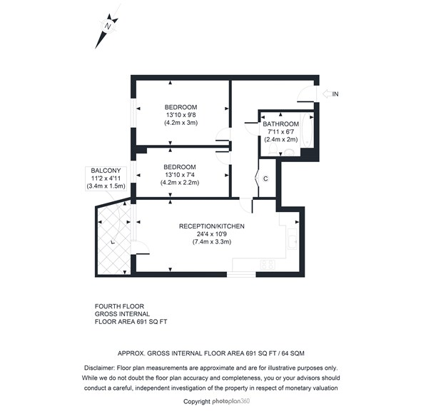 Floorplan at 64 Trafalgar House, Juniper Drive