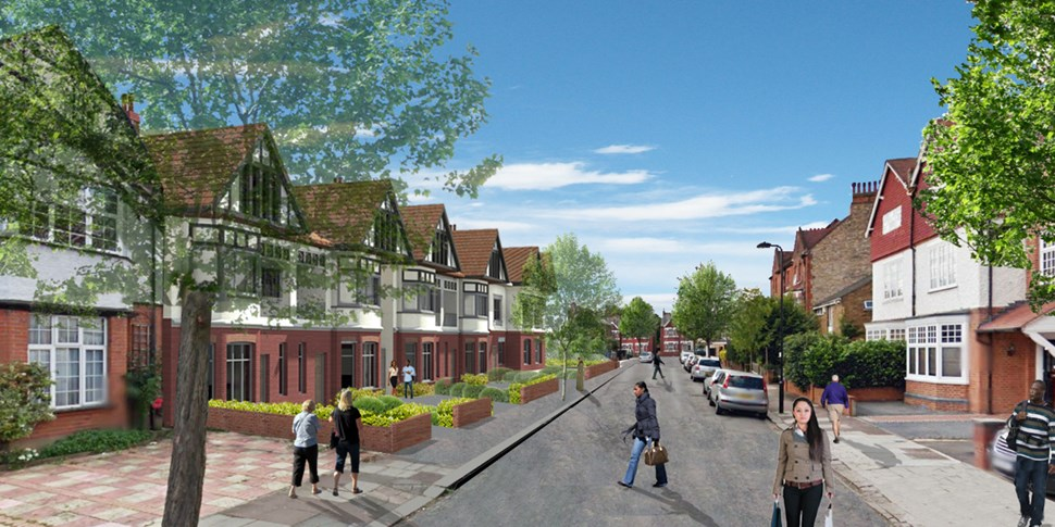 CGI of Shakespeare Road